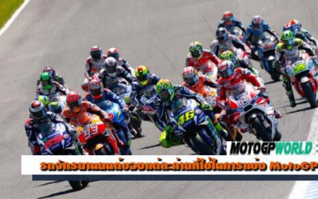 รถจักรยานยนต์ของแต่ละค่ายที่ใช้ในการแข่ง MotoGP